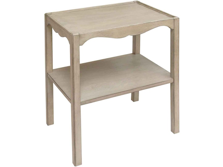 Accents Beyond 2-Tier End Table with Shaped Apron 1246