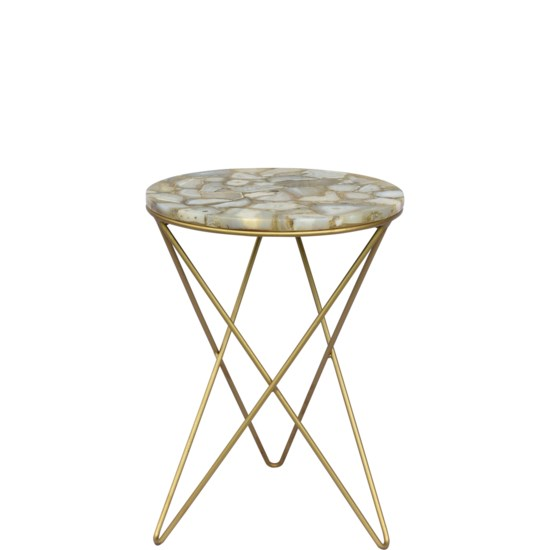 Crestview Olivia Agate Accent Table CVFNR835